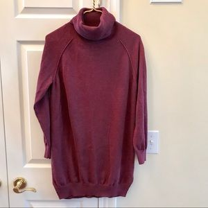 Lole burgundy turtleneck tunic sweater MEDIUM